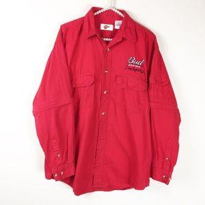 4/$25 Bud Racing Dale Earnhardt Jr. Button Shirt